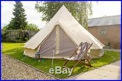 100% Cotton Canvas 4m Bell Tent Zipped In Ground Sheet by Bell Tent Boutique