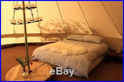 100% Cotton Canvas Teepee/Tipi Bell Tent, Large Family Camping 6/8 Man Tents