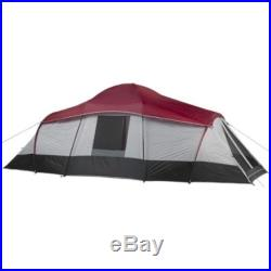 10 Person 3 Room Family Cabin Pop Up Camping Tent Separate Sleeps 10 NEW