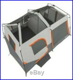 10 Person Camping Tent Outdoor 2 Room Instant Cabin Family With Light Pole Tent