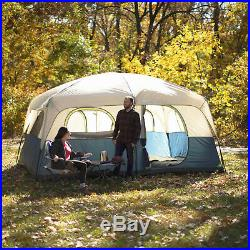 10-Person Family Cabin Tent for Camping and Hiking Outdoor 2-Room Set-up Shelter