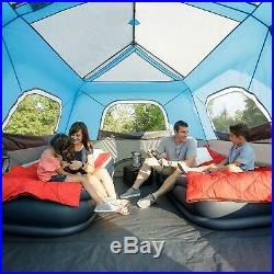 10-Person Instant Cabin Tent with LED Lights