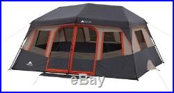 10-Person Ozark Trail Instant Cabin Tent Steel Frame Outdoor Camping Shelter