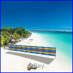 10 Pole 9 Section Windbreak Holiday Garden Camping Beach Sun Shade Windbreaker