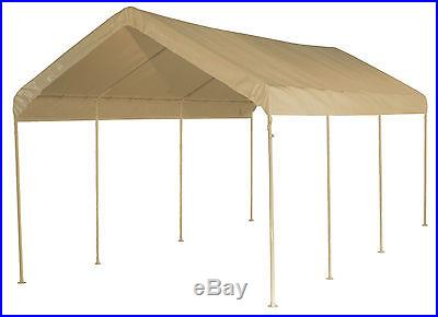 10' X 20' Frame Valance Tarp Cover Replacement Canopy Shade Tan Color