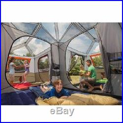 12-Person 3-Room Instant Cabin Tent Family-Size Camping Hiking Outdoor Awning