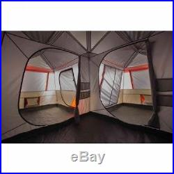 12 Person 3 Room L-Shaped Instant Cabin Tent Camping Hiking Family Outdoor Camp