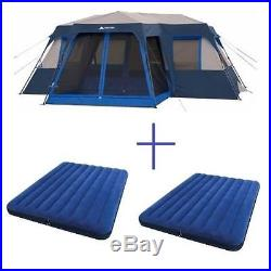 12 Person Family Instant Tent Hiking Camping Outdoor Cabin With 2-Queen Air BEDS