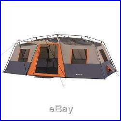 12-Person Tent & 2 FREE Queen Airbeds Instant Cabin 3 Room Family Camping Hiking