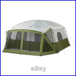 12 Person Tent Ozark Trail 14'x12' Green Family Camping Cabin Tent Screen Porch