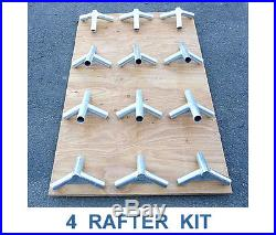 12 x 14 CANVAS WALL TENT, WATER & MILDEW TREATED & ANGLE KIT