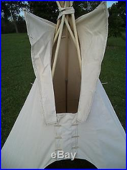 12ft. Diameter tipi, teepee, or tepee 100% cotton duck Outdoor or Indoor tent