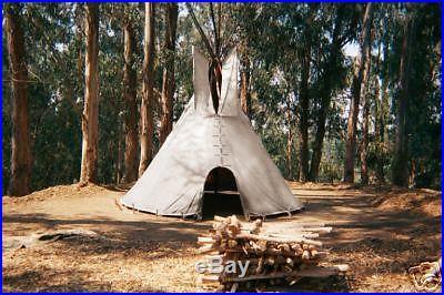 14' CHEYENNE STYLE tipi/teepee, Door flap & carry bag