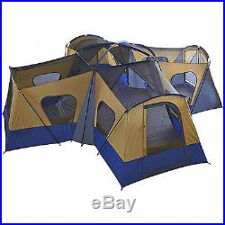 14 Person 20' x 20' Base Camp Family Cabin Tent 4 Rooms Hiking Camping