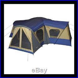 14- Person 3 Room Converter Dividers New 4 Door 12 Window Easy Up Camping Tent