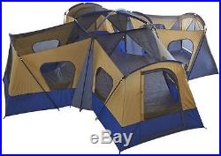 14-Person 4-Room Rooms Divider Base Camp Tent Camping Windows Ventilation Bed