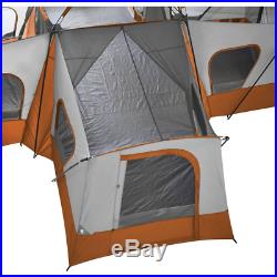 14 Person Tent Base Camp Cabin Ozark Trail 4 Room Camping Family Instant Seasons