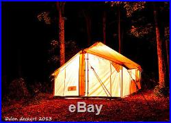14' x 14' Selkirk Spike Tent Water and Mildew Treated 10.1oz Canvas