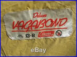 1970s COLEMAN DELUXE VAGABOND CABIN TENT 8x13 ft. CANVAS/NYLON vintage