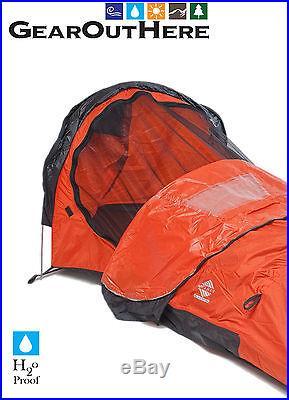 1 Pole Bivy Tent One Man Camping Fishing Hunting Kayak Canoe Road Bike Touring