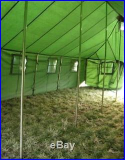20 person military barracks army tent camping hunting waterproof 27'x16