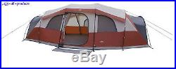 21 ft. X 14 Camping Red Instant Family Cabin 3 room Large Sealed Tent 12 person