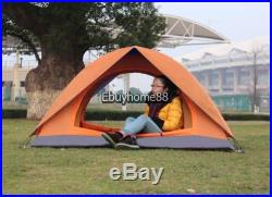 2 3 Person Camping Dome Tent Double layer Easy Setup Hiking Backpacking NEW