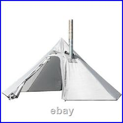 3 Person Lightweight Tipi Hot Tent with Fire Retardant Flue Pipes (Beige)