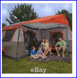 3 Room 12 Person Family Instant Cabin Tent Outdoor Camping Large Rainfly Canvas