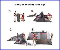 3 Room Tent Camping Family 12 Person Room Portable Instant Shelter Waterproof