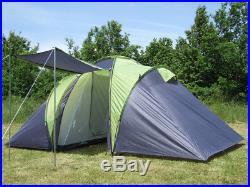 4 5 6 Mann Familienzelt Campingzelt Camping Zelt Sierra 6 2 Kabinen 3000 MM