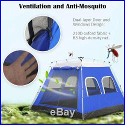4-6 Person Large Family Camping Tent Automatic Instant Tent Waterproof Shelter