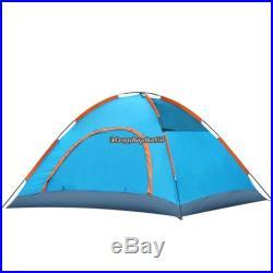 4 Person 3-Season Family Dome Camping Tent Blue/Orange