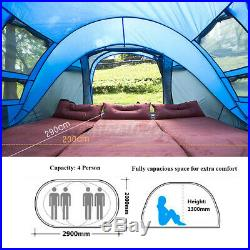 4 Person Hydraulic Camping Automatic Pop Up Tent Waterproof Outdoor Hiking Tool