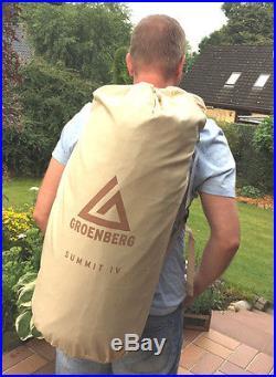 4 Personen Zelt GROENBERG SUMMIT IV Baumwollzelt Campingzelt Familienzelt NEU