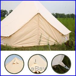 4-Season 6 Meter Large Family Canvas Bell Tent Waterproof Civil War Camping Yurt
