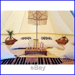 4-Season Waterproof Cotton Canvas Large Family Camp Bell Tent Hunting Wall Tents