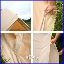 5M Bell Tent Camping Canvas Tent Beach Yurt British Safari Waterproof Stove Jack