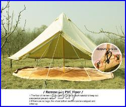 5M Canvas Bell Tent Waterproof Teepe Glamping 5+ Type Yurt Tent with Stove Jack