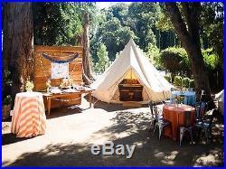 5M Canvas Bell Tent Waterproof Teepe Gl&ing 5+ Type Yurt Tent with Stove Jack & 5M Canvas Bell Tent Waterproof Teepe Glamping 5+ Type Yurt Tent ...