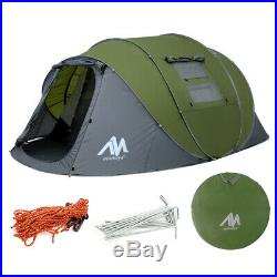 5-6 Person Camping Dome Tent Instant Pop Up Waterproof Travel Sun Canopy Large