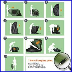 5-6 Person Double Layer Camping Pop Up Tent Family Instant Waterproof Tent Large