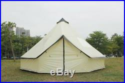 5m Tent Pyramid round Bell Tent With Zipped In Ground Sheet vents water proof