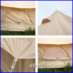 6M Waterproof Canvas Bell Tent Glamping Camping Tent Family Tent Yurt Stove Jack