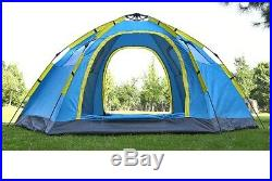6-8 Person Quick Opening Automatic Big Camping Tent 2 Door 4 Windows