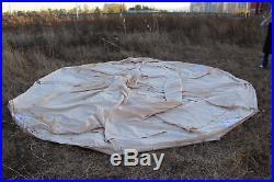 6 Metre Emperor Twin Bell Tent Safari Tent Waterproof Hunting Glamping Wall Tent