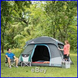 6 Person 10' x 9' Instant Dark Cabin Camping Tent Family Outdoor Sleeping Dome
