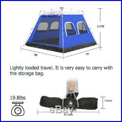 6 Person Outdoor Camping Tent Pop Up Family Cabin Instant Automatic Trail Picnic