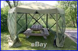 6 Person Screen Tent Quick-Set Rainfly Green Picnic Family Tents NEW Outdoor