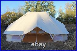 6x4M Emperor Twin Bell Tent Safari Tent Waterproof Hunting Camp Wall Tent US CA